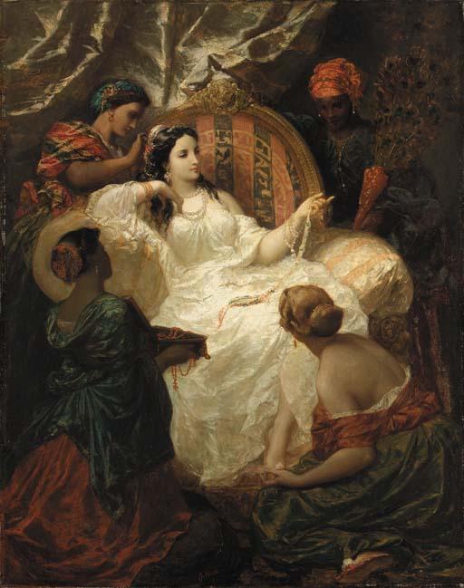 Picou,_Henri_Pierre_-_The_Dressing_of_the_Favorite_-_1857